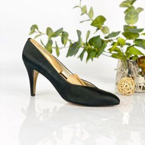 Yves Saint Laurent Pump Satin Black Classic VTG